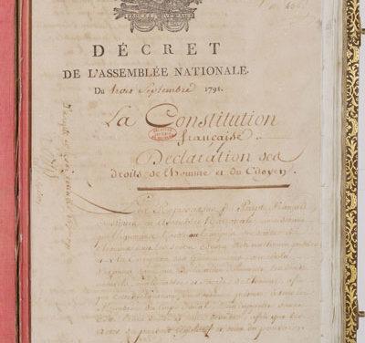 Les constitutions en France (de 1791 à nos jours)