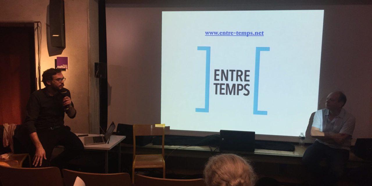 Présentation et inauguration de la plateforme numérique «Entre-temps»