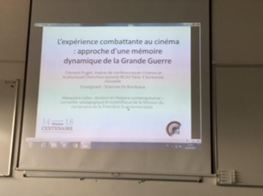 L'expérience combattante au cinéma : approche d'une mémoire dynamique de la Grande Guerre