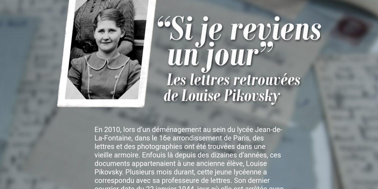 « Si je reviens un jour », les lettres retrouvées de Louise Pikovsky