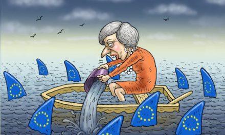 Image illustrant l'article theresa_may_and_the_eu_sharks__marian_kamensky de Les Clionautes