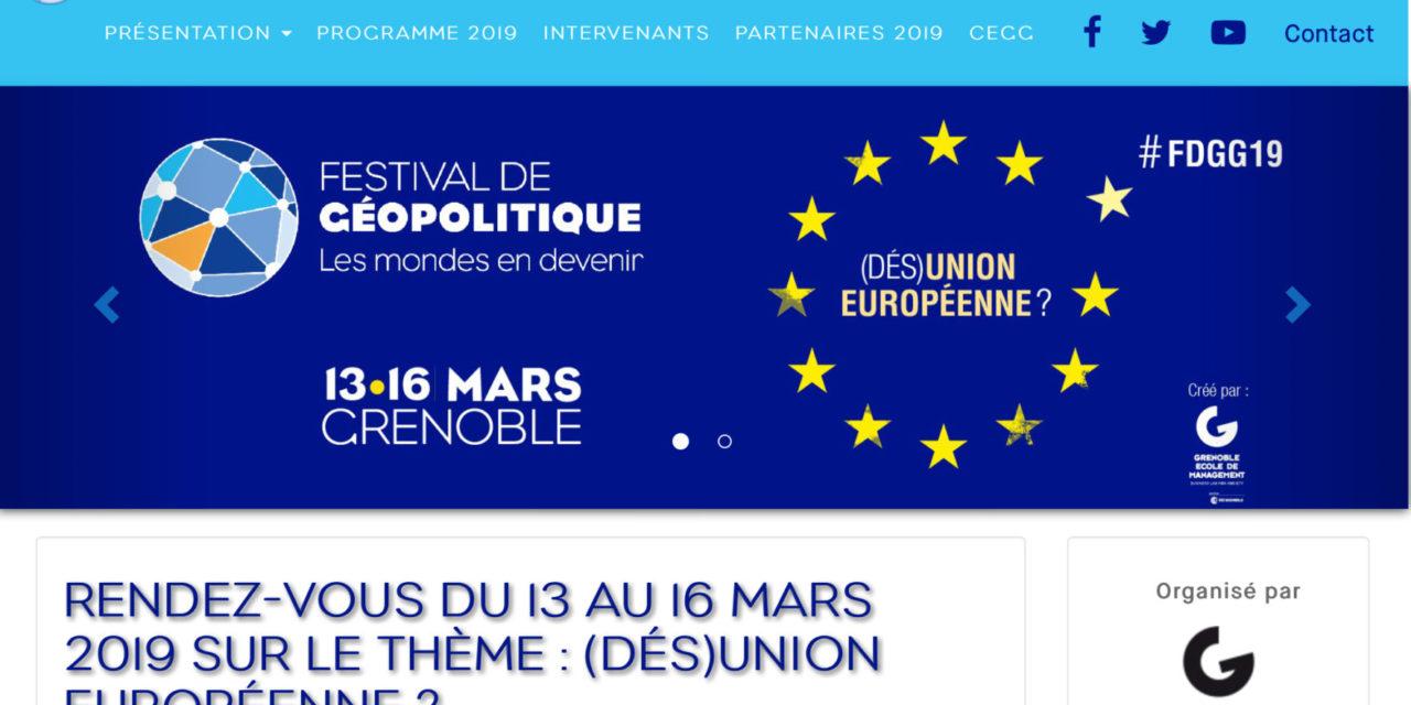 Festival de Géopolitique de Grenoble 2019