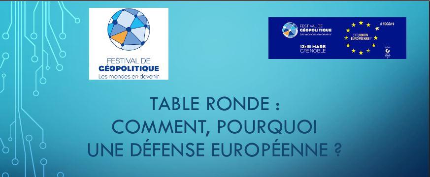 Comment, pourquoi une défense européenne ?