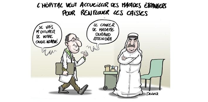 Patients étrangers à l'hôpital en France, accueil des migrants et tourisme médical