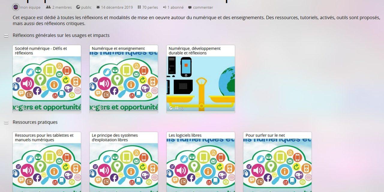 Formation au numérique : ressources et réflexions