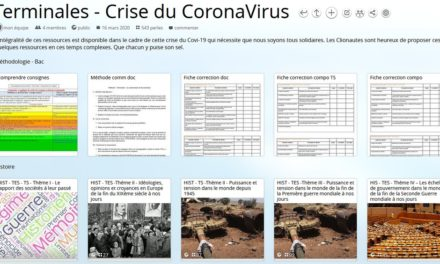 Image illustrant l'article banniere_Pearltrees_corona de Les Clionautes