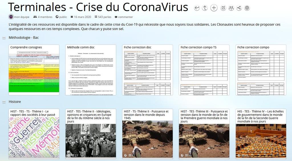 Continuité pédagogique et crise du Coronavirus