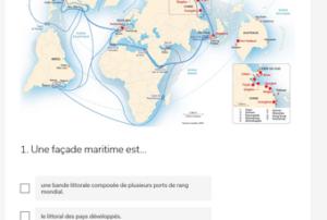 présentation du carte d'une facade maritime mondiale