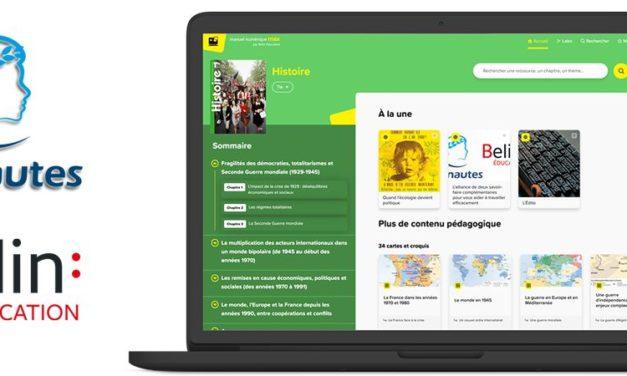 BELIN Education associés aux Clionautes pour le manuel numérique MAX