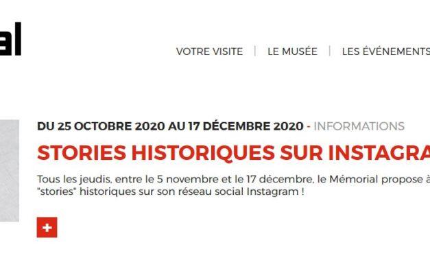 Mémorial de Caen : des stories sur Instagram