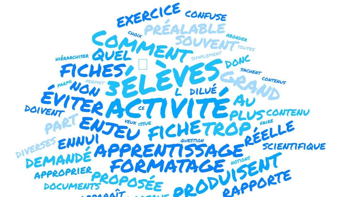 La fiche d'activité met-elle les élèves en activité ?