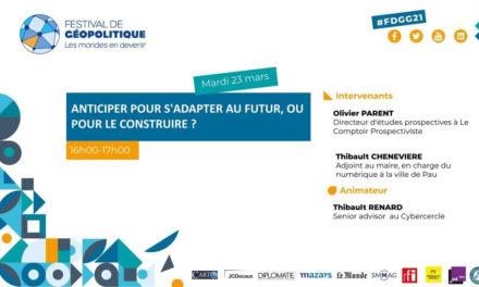 Conférence Anticiper pour s'adapter au futur, ou pour le construire