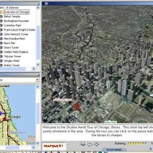 Les villes américaines avec Terra explorer
