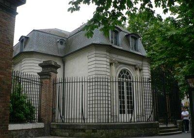 façade du pavillon côté rue de Bagnolet